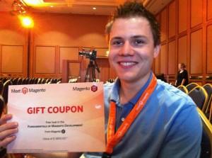 Simon Sprankel Gewinner des Magento U Trainings